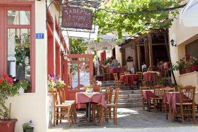Cafe, Restaurant, Taverna, Plaka, Athens, Greece by Peter Adams