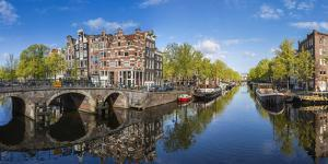 Canal, Amsterdam, Holland, Netherlands by Peter Adams