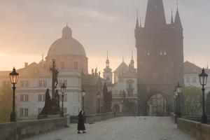 Charles Bridge at Dawn, Prague, Czech Republic by Peter Adams