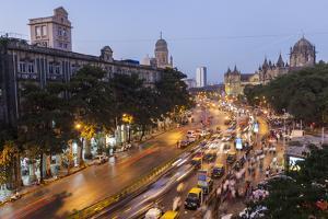 Chhatrapati Shivaji Terminus Train Station and Central Mumbai, India by Peter Adams