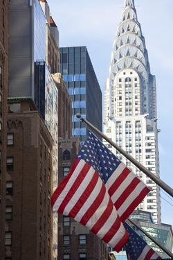 Chrysler Building with Star and Stripes, New York, USA by Peter Adams