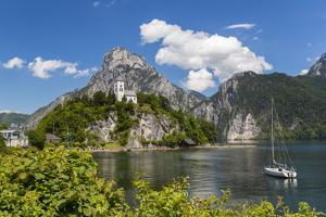 Church Overlooking Traunsee Lake, Traunkirchen, Upper Austria, Austria by Peter Adams