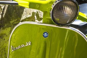 Close Up of Italian Vespa, Italy by Peter Adams