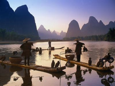 Cormorant, Fisherman, China by Peter Adams