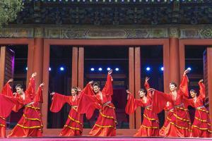 Cultural Performance in Period Costume, Beijing, China by Peter Adams