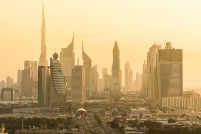 Downtown Dubai skyline, Dubai, United Arab Emirates, U.A.E. by Peter Adams