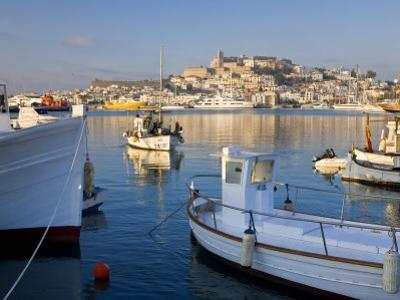 Harbour and Old Town, Eivissa or Ibiza Town, Ibiza, Balearic Islands, Spain by Peter Adams