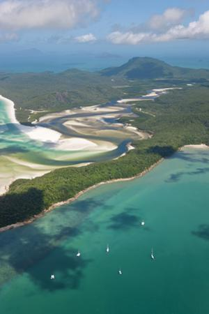 Hill Inlet Whitsunday Islands, Queensland, Australia by Peter Adams