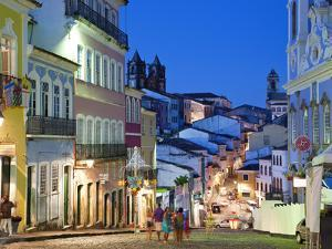 Historic Centre at Dusk, Pelourinho, Salvador, Bahia, Brazil by Peter Adams