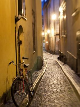 Historic Old Street in Gamla Stan (Old Town) in Stockholm, Sweden by Peter Adams