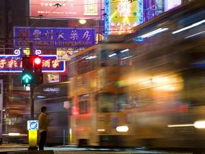 Hong Kong, Trams, China by Peter Adams