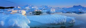 Icebergs, Disko Bay, Greenland by Peter Adams