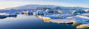 Icebergs, Jokulsarlon Glacier Lake, South Iceland by Peter Adams