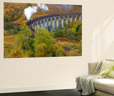 Jacobite or Harry Potter Steam Train Crossing Glenfinnan Viaduct, Lochaber by Peter Adams
