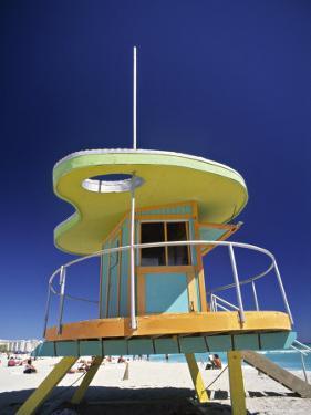 Lifeguard Station at Miami Beach, Florida, USA by Peter Adams