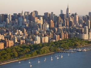 Midtown Mahattan and Hudson River, New York, USA by Peter Adams