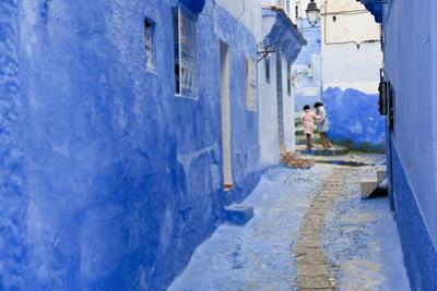 Narrow Lane, Chefchaouen, Morocco by Peter Adams