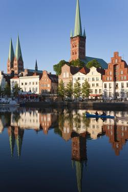 Old Town and River Trave at Lubeck, Schleswig-Holstein, Germany by Peter Adams
