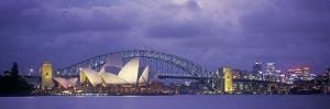 Opera House and Harbour Bridge, Sydney, New South Wales, Australia by Peter Adams