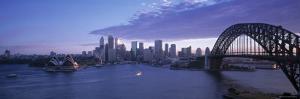 Opera House and Harbour Bridge, Sydney, Nsw, Australia by Peter Adams