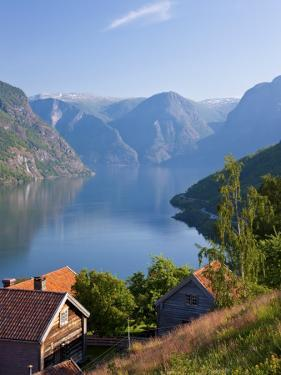 Otternes Mountain Village, Nr Flam, Aurlandsfjord, Norway by Peter Adams