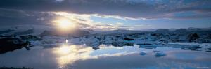Panorama of Jokulsarlon Glacial Lagoon, Iceland by Peter Adams