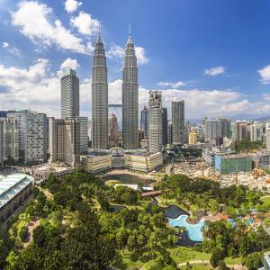 Petronas Towers and Klcc, Kuala Lumpur, Malaysia by Peter Adams