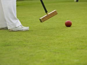 Playing Croquet, Devon, England by Peter Adams
