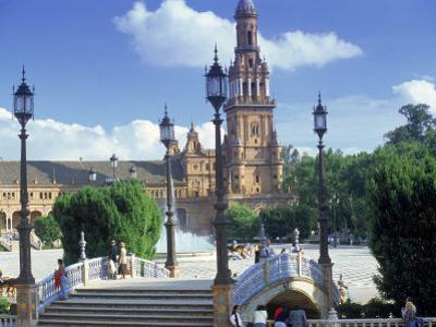 Plaza De Espana, Seville, South Spain by Peter Adams