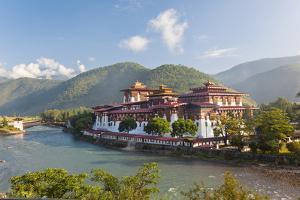 Punakha Dzong or Monastery, Punakha, Bhutan by Peter Adams