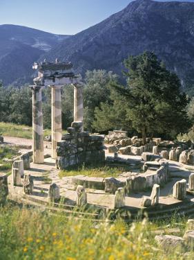 Sanctuary of Athena Pronaia, Delphi, Greece by Peter Adams