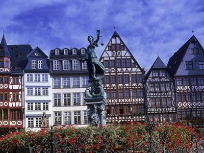 Statue, Garden and Building Facade, Frankfurt, Germany by Peter Adams