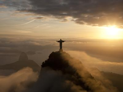 Statue of Jesus, known as Cristo Redentor (Christ the Redeemer), on Corcovado Mountain in Rio De Ja by Peter Adams