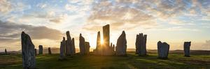 Sunset, Callanish Standing Stones, Isle of Lewis, Outer Hebrides, Scotland by Peter Adams