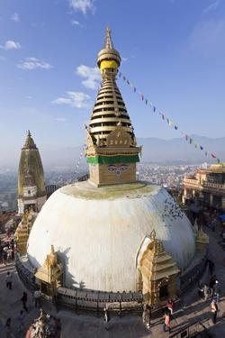 Swayambhunath Buddhist Stupa or Monkey Temple, Kathmandu, Nepal by Peter Adams
