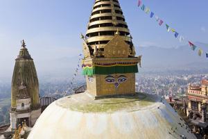 Swayambunath Stupa or Monkey Temple, Kathmandu, Nepal by Peter Adams