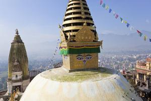 Swayambunath Stupa or Monkey Temple, Kathmandu, Nepal by Peter Adams