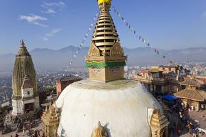 Swayamhunath Buddhist Stupa or Monkey Temple, Kathmandu, Nepal by Peter Adams