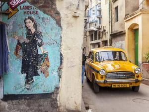 Taxi and Street Scene, Kolkata (Calcutta), West Bengal, India by Peter Adams