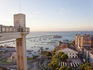 The Elevador Lacerda Which Links Salvador Da Bahia's Cidade Alta with Cidade Baixa, Pelourinho, Sal by Peter Adams