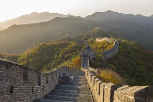 The Great Wall at Mutianyu Near Beijing in Hebei Province, China by Peter Adams