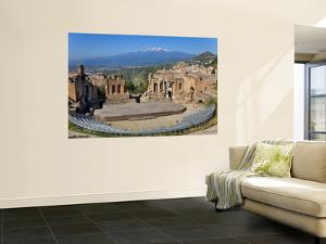The Greek Theatre and Mount Etna, Taormina, Sicily, Italy by Peter Adams