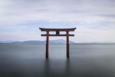 Torii Gate, Lake Biwa, Takashima, Shiga, Japan by Peter Adams