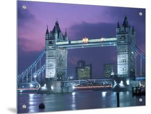 Tower Bridge at Night, London, UK by Peter Adams