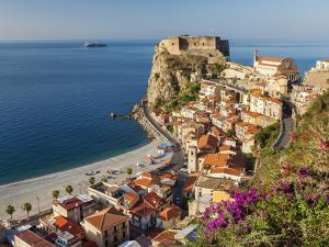 Town View With Castello Ruffo, Scilla, Calabria, Italy by Peter Adams
