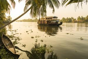 Traditional House Boat, Kerala Backwaters, Nr Alleppey, (Or Alappuzha), Kerala, India by Peter Adams