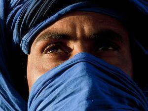 Tuareg Man, Erg Chebbi, Sahara Desert, Morocco by Peter Adams