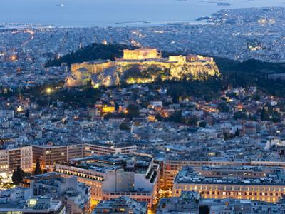 View of the Acropolis and the Parthenon Athens, Greece by Peter Adams