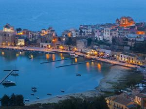 View over Harbour at Dusk, Castellammare Del Golfo, Sicily, Italy by Peter Adams