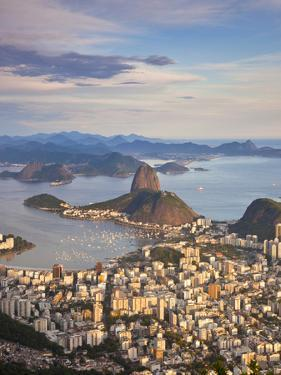 View over Sugarloaf Mountain and City Centre, Rio De Janeiro, Brazil by Peter Adams